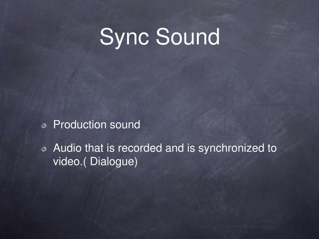 Sync Sound