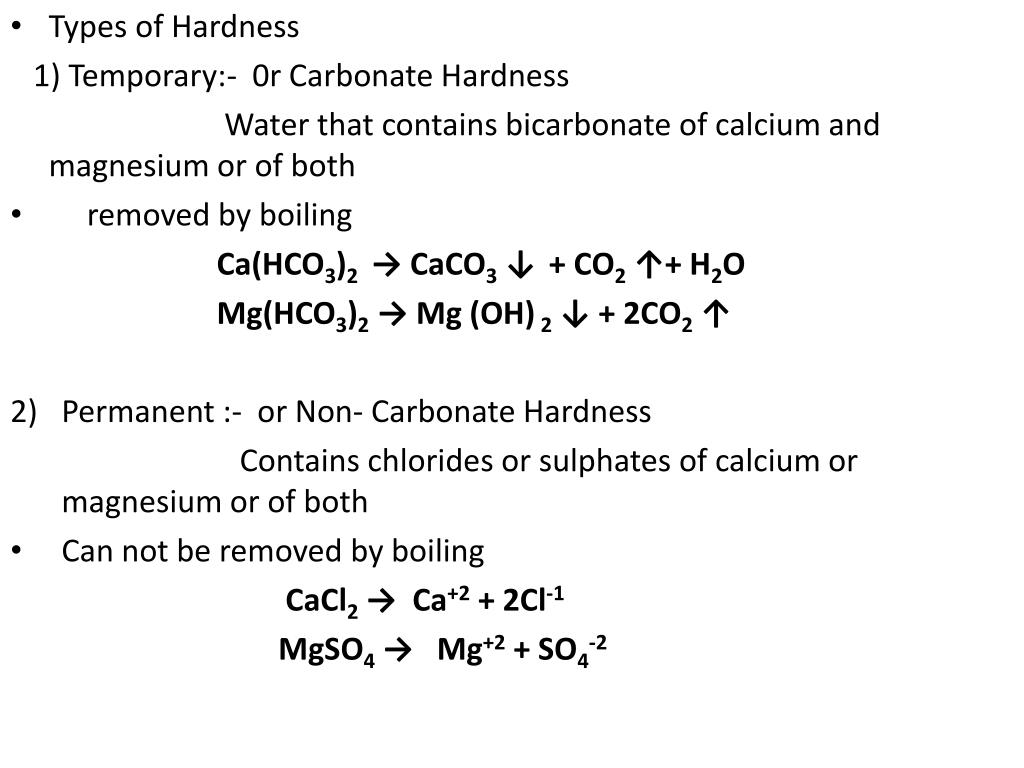 Types of Hardness