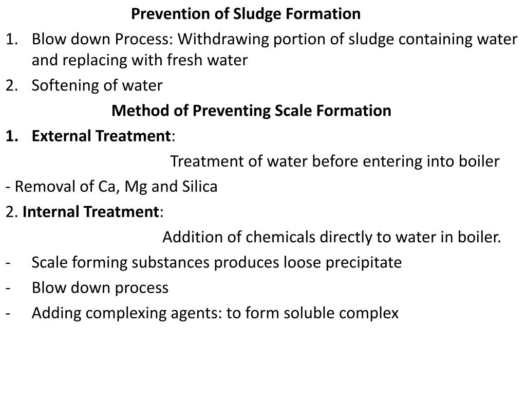 Prevention of Sludge Formation