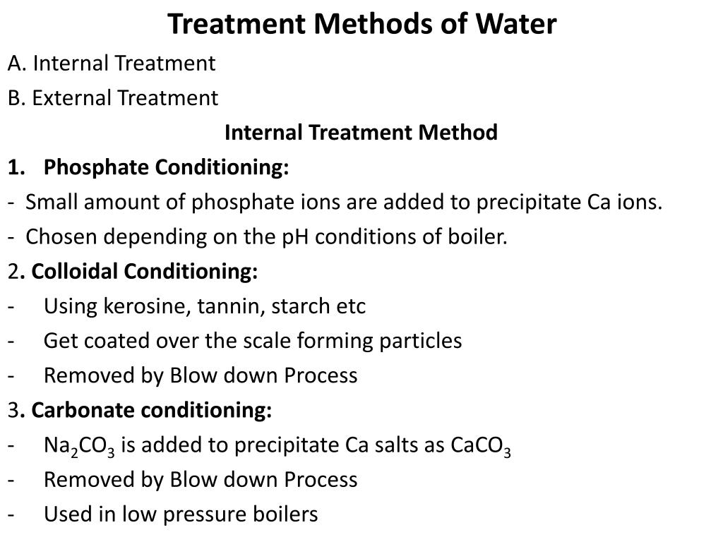 Treatment Methods of Water