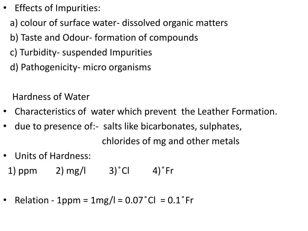 Effects of Impurities: