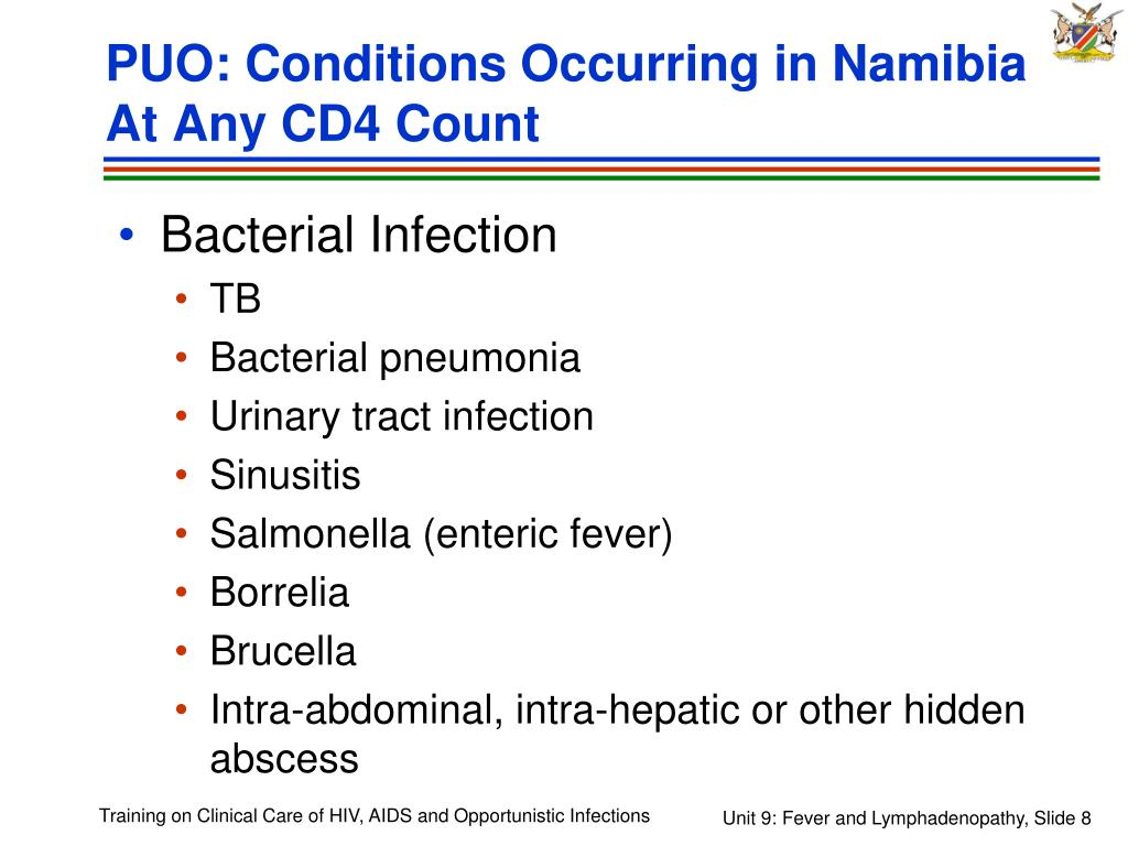 PUO: Conditions Occurring in Namibia At Any CD4 Count