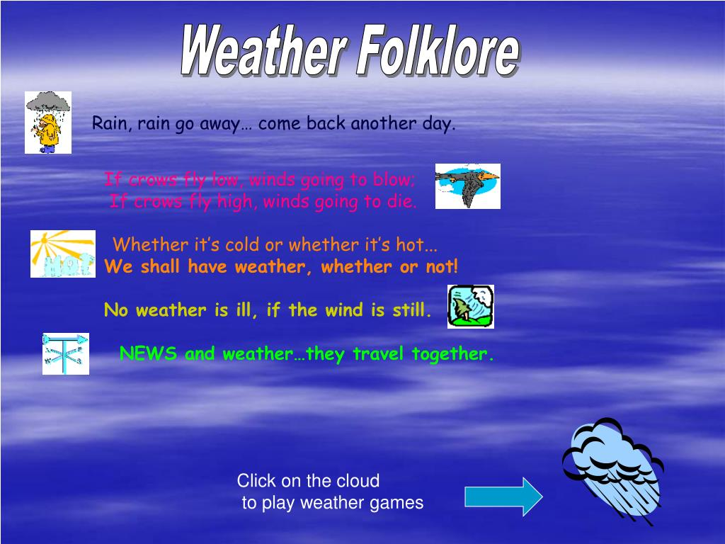 Weather Folklore