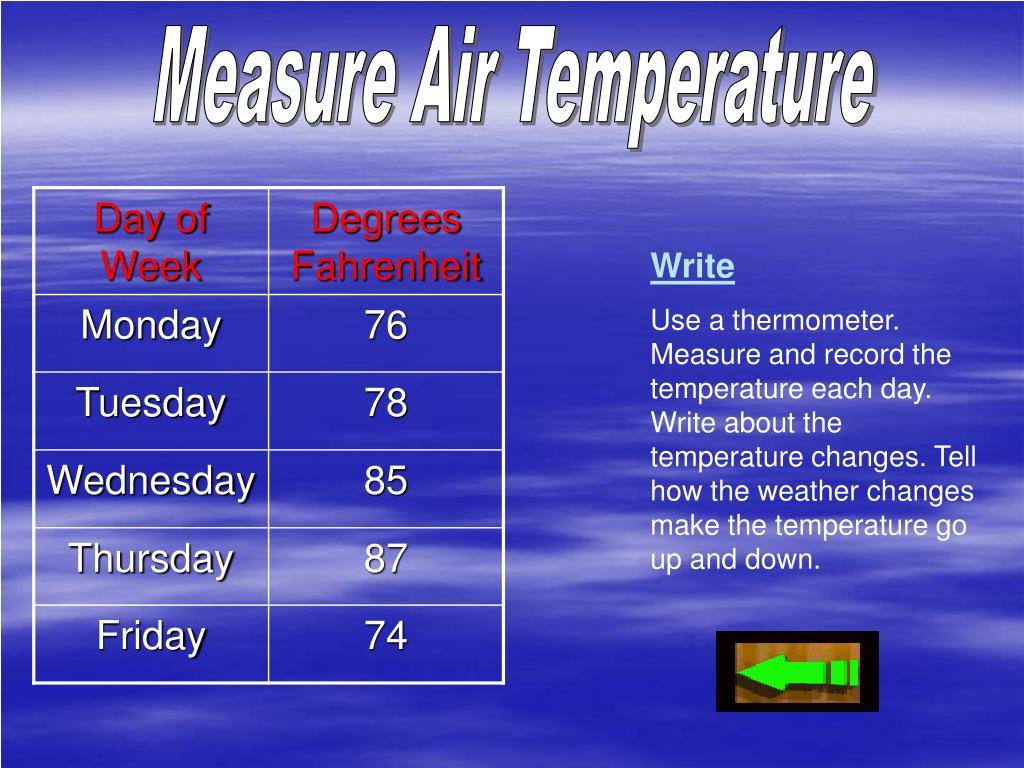 Measure Air Temperature