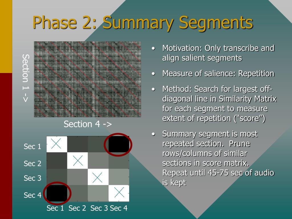 Phase 2: Summary Segments