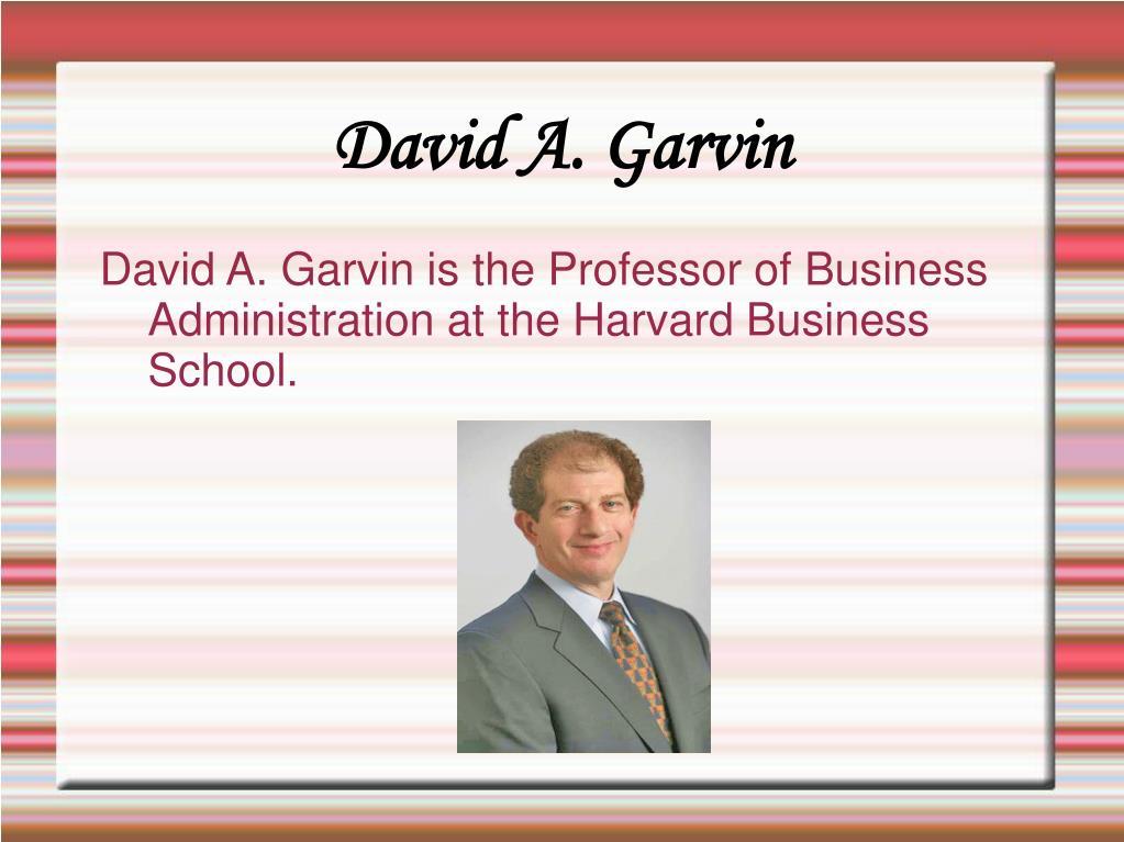 David A. Garvin