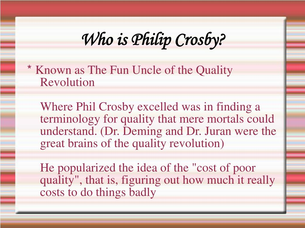 Who is Philip Crosby?