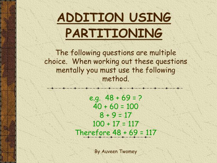 Addition using partitioning l.jpg