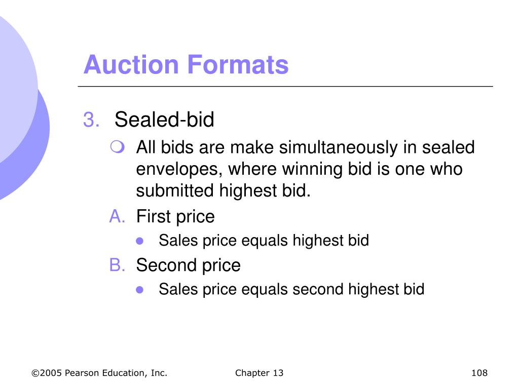 Auction Formats