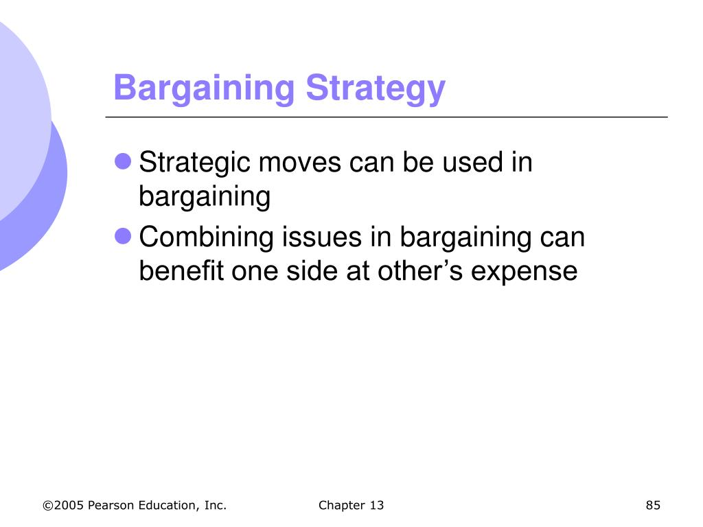 Bargaining Strategy
