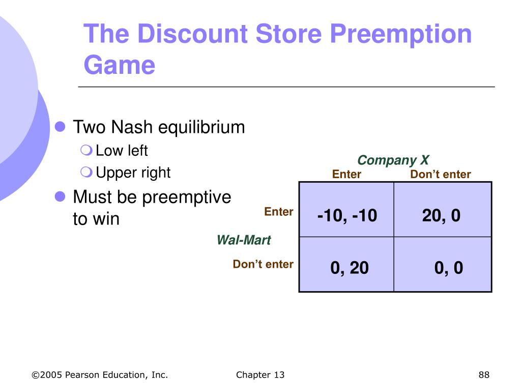 Two Nash equilibrium