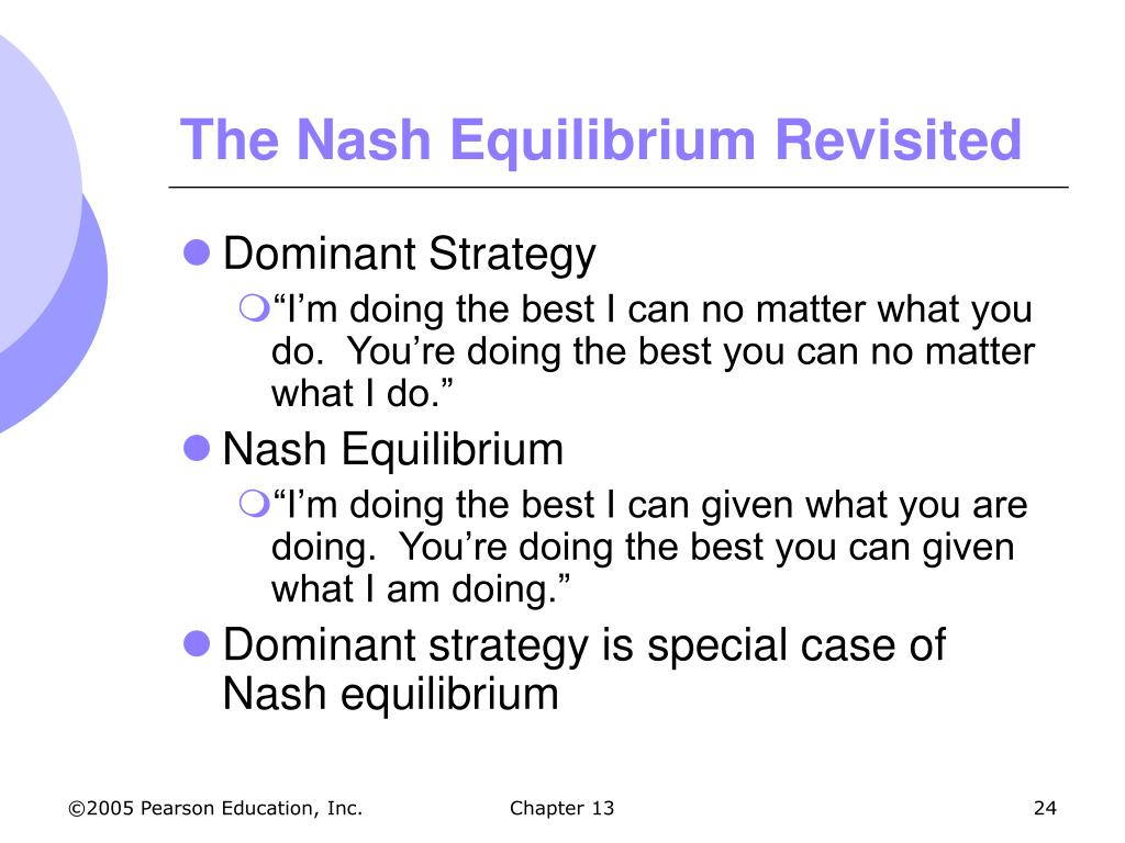 The Nash Equilibrium Revisited
