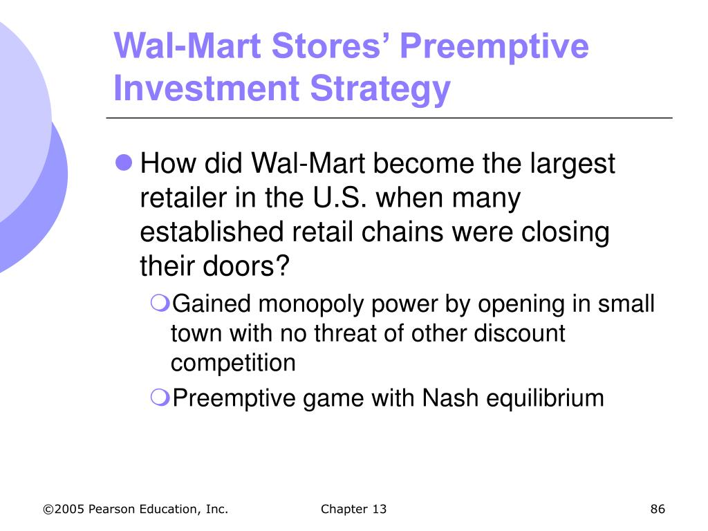 Wal-Mart Stores' Preemptive Investment Strategy