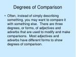 degrees of comparison2