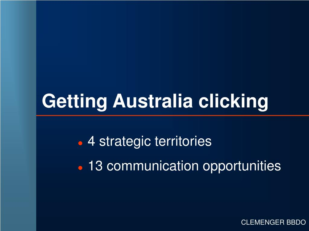Getting Australia clicking
