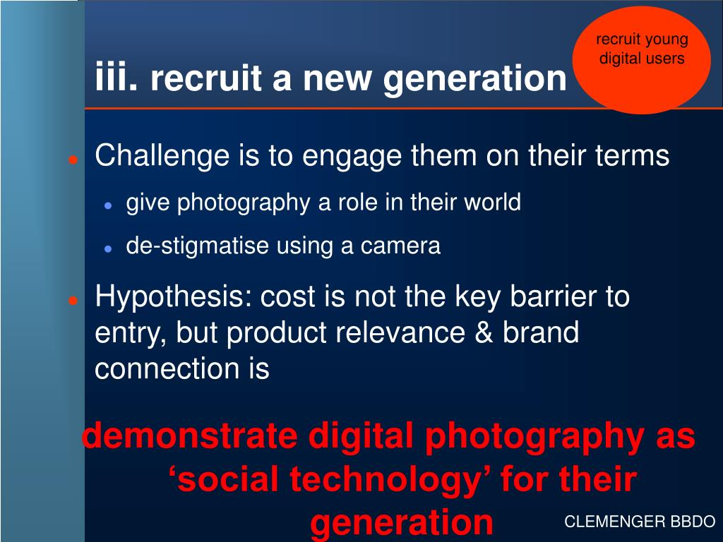 recruit young digital users