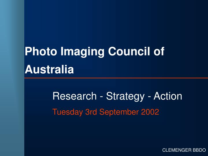 Photo imaging council of australia