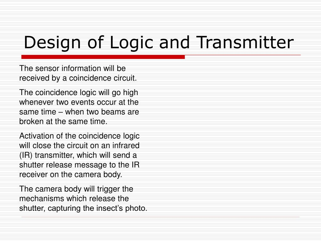 Design of Logic and Transmitter