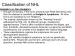 classification of nhl