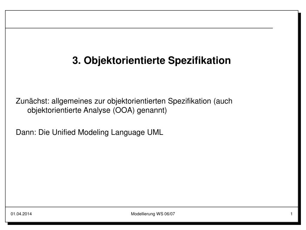 3. Objektorientierte Spezifikation
