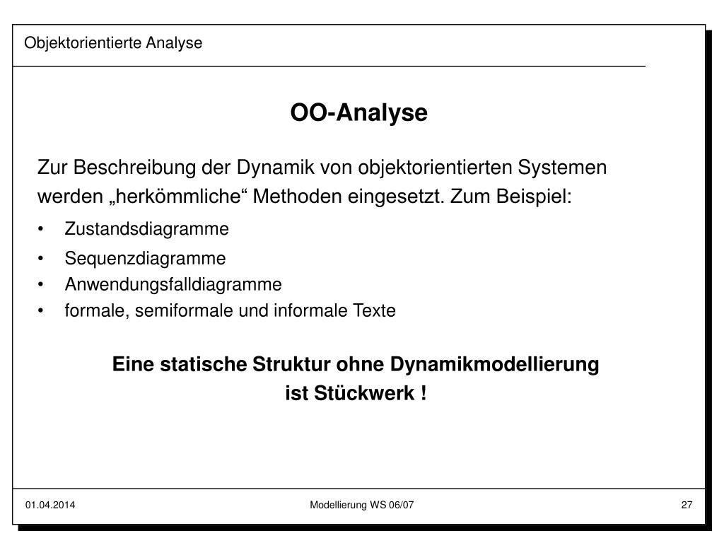 Objektorientierte Analyse