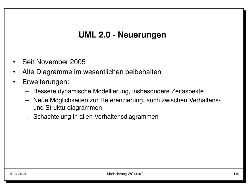UML 2.0 - Neuerungen