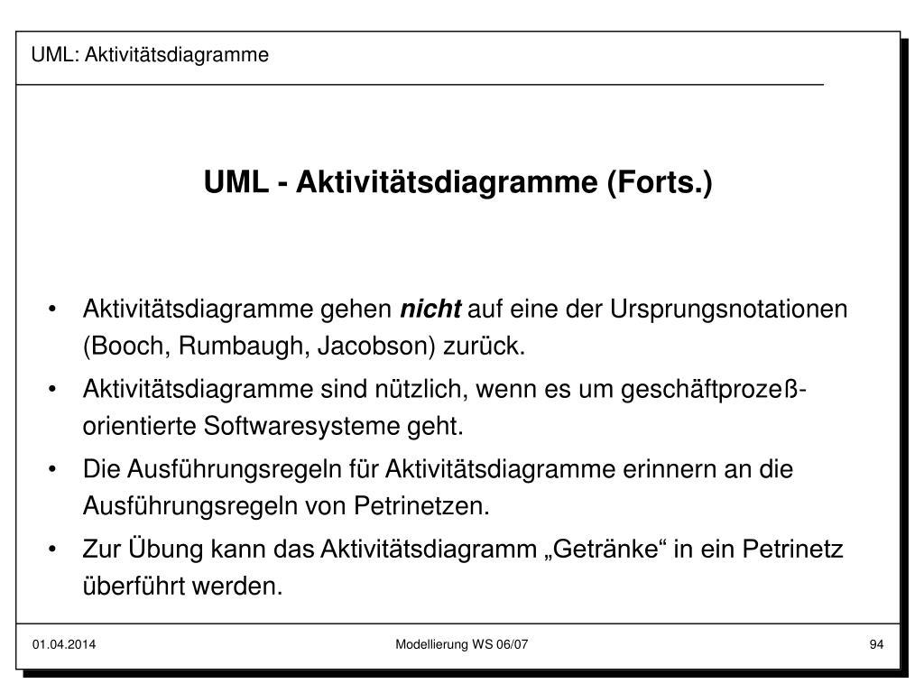 UML: Aktivitätsdiagramme