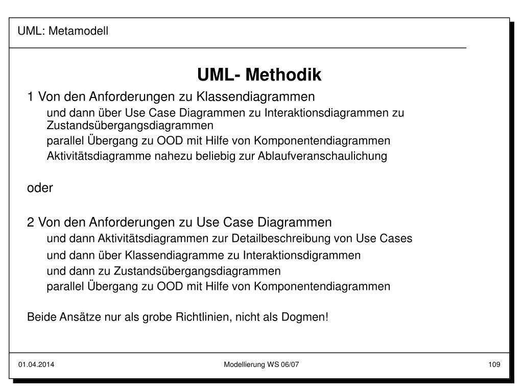 UML: Metamodell