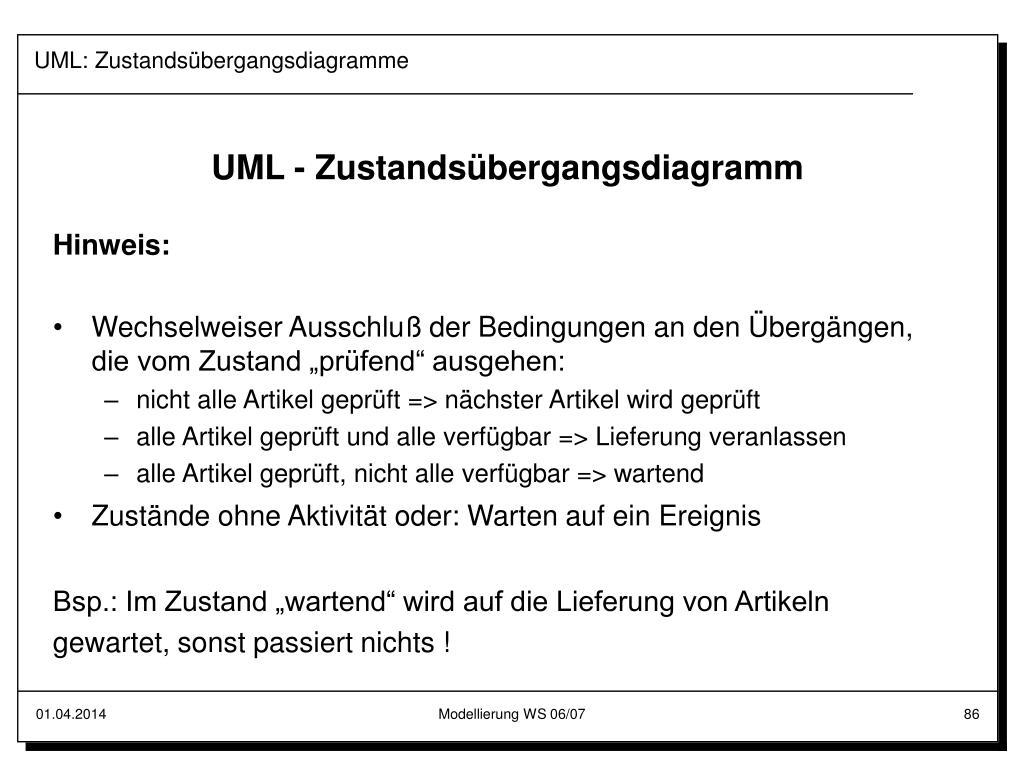 UML: Zustandsübergangsdiagramme