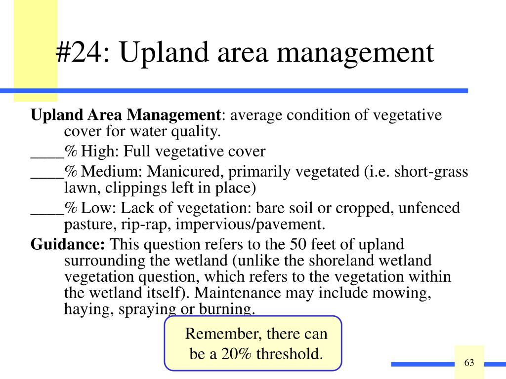 Upland Area Management