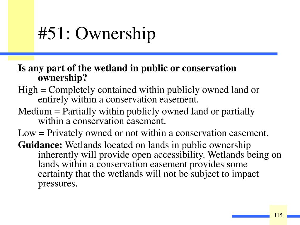 Is any part of the wetland in public or conservation ownership?