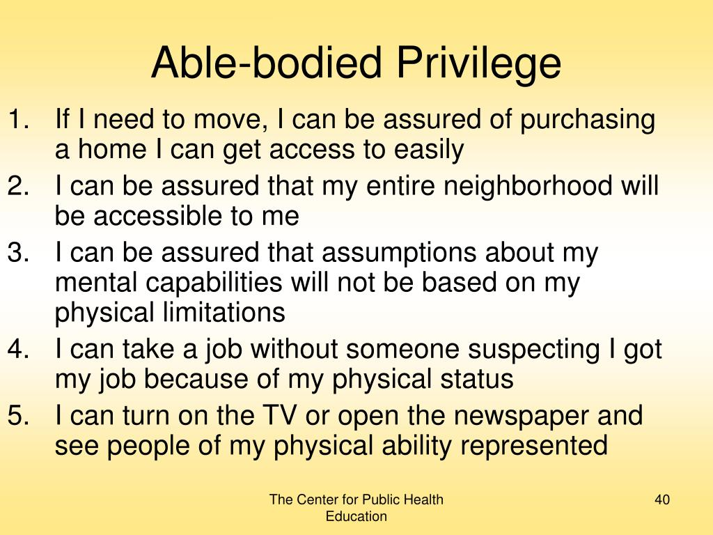 Able-bodied Privilege