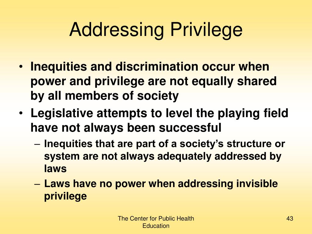 Addressing Privilege