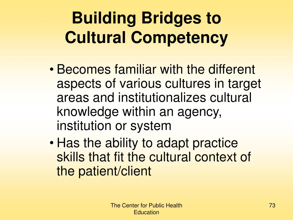Building Bridges to