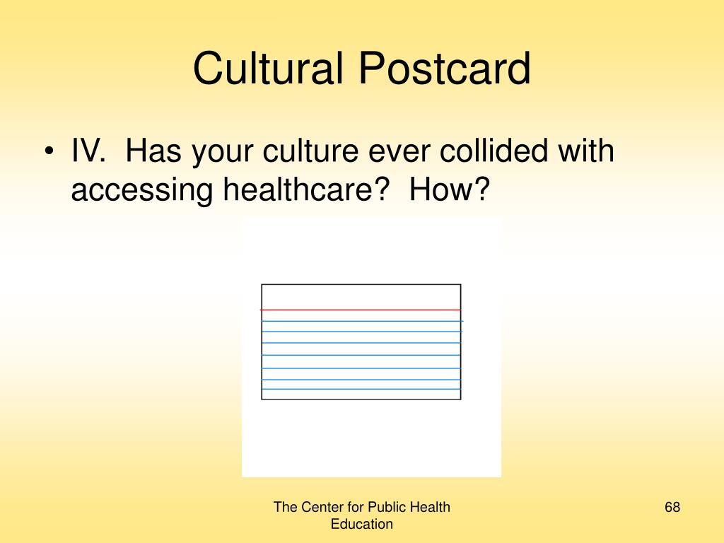 Cultural Postcard