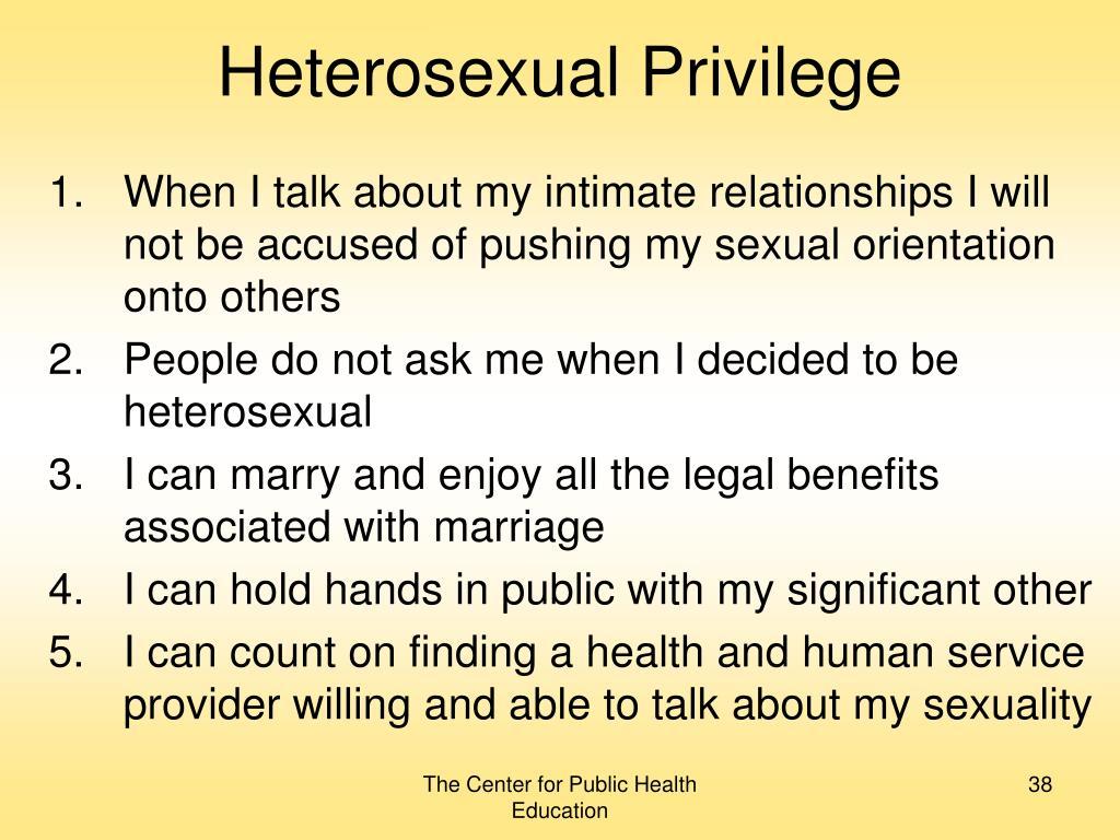 Heterosexual Privilege