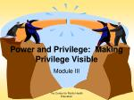 power and privilege making privilege visible