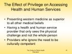 the effect of privilege on accessing health and human services