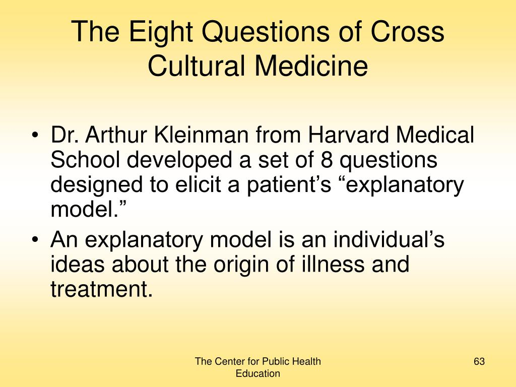 The Eight Questions of Cross Cultural Medicine