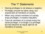 the i statements35