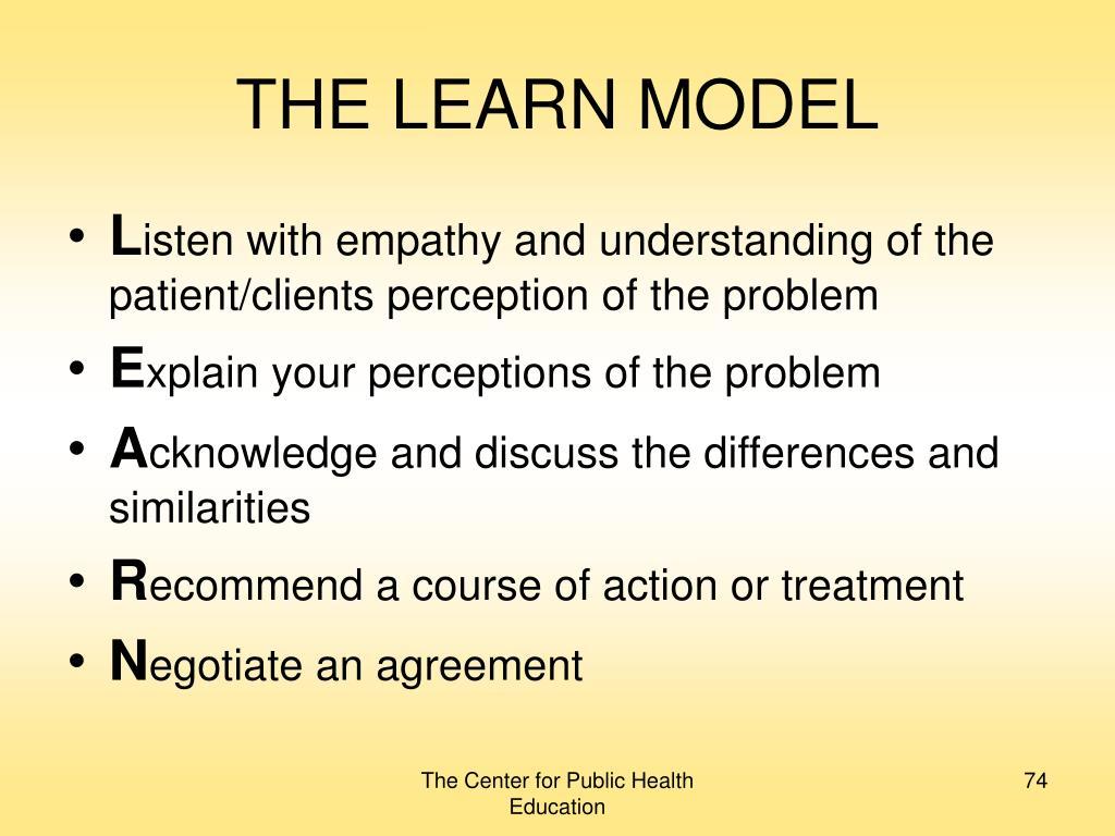 THE LEARN MODEL
