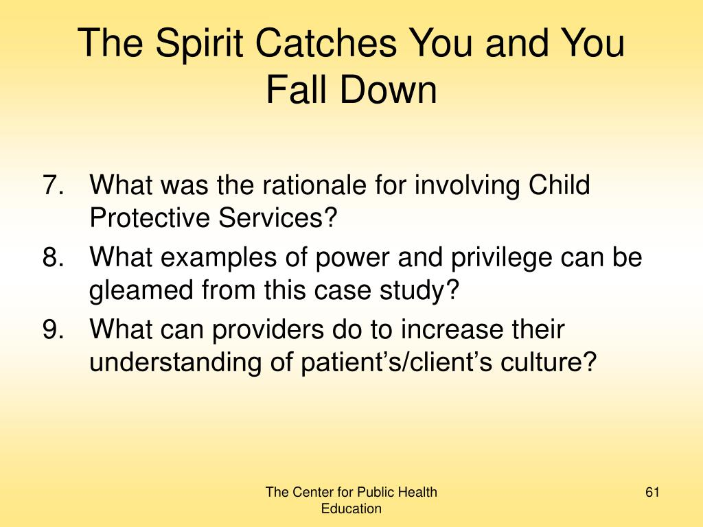 The Spirit Catches You and You Fall Down
