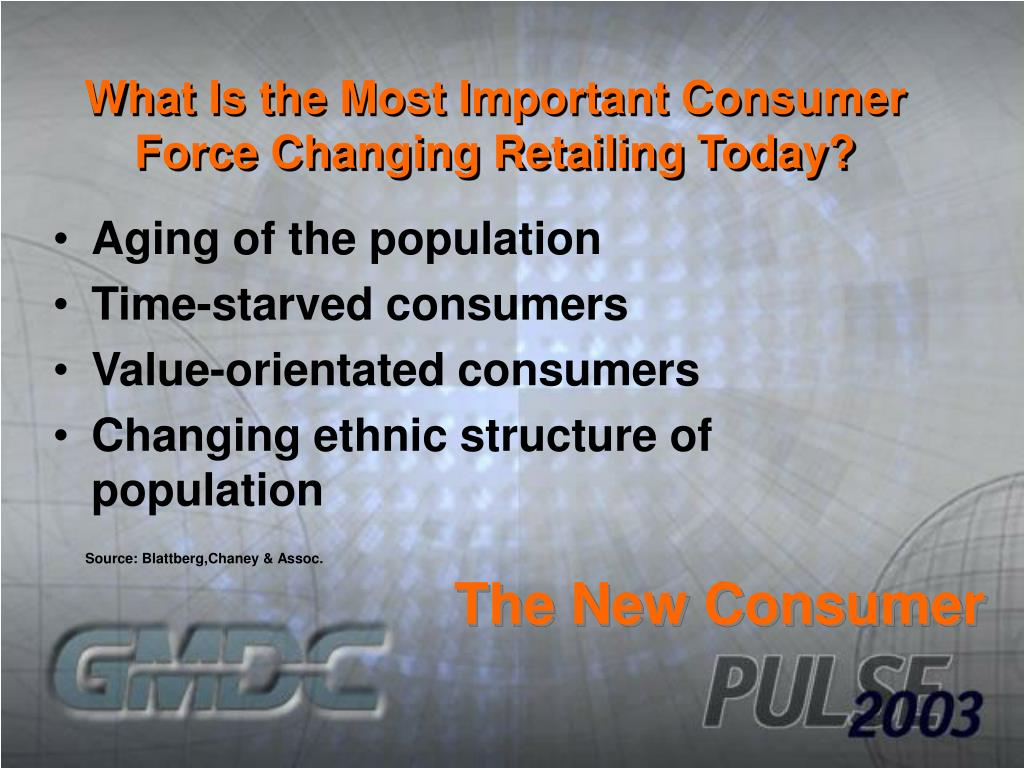 What Is the Most Important Consumer Force Changing Retailing Today?