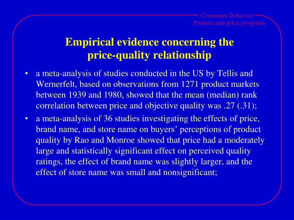 Empirical evidence concerning the