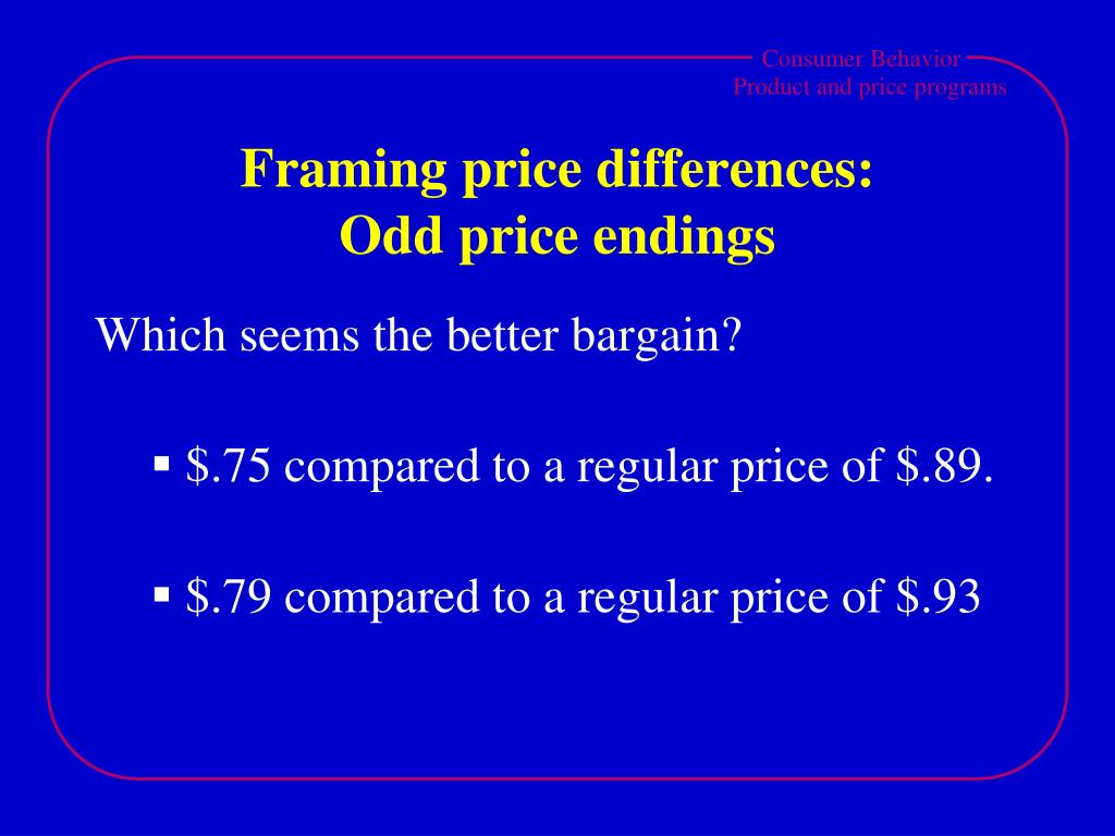 Framing price differences: