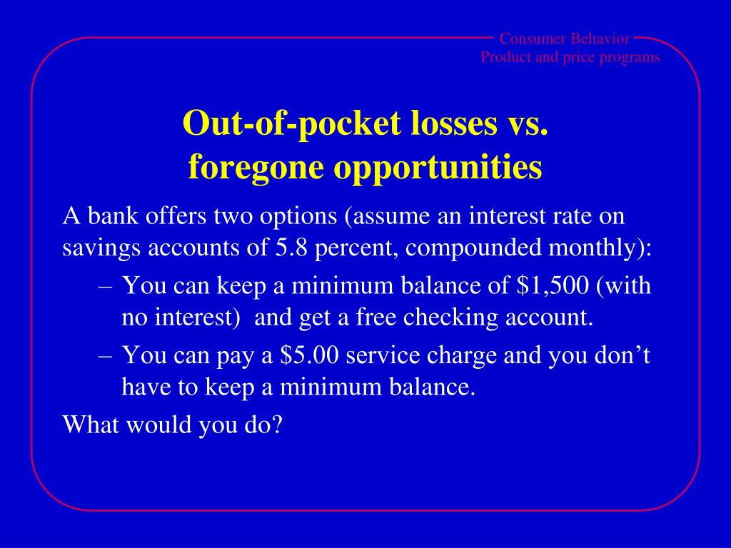 Out-of-pocket losses vs.