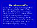 the endowment effect