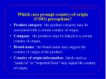 which cues prompt country of origin coo perceptions