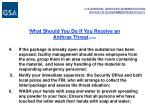 what should you do if you receive an anthrax threat cont