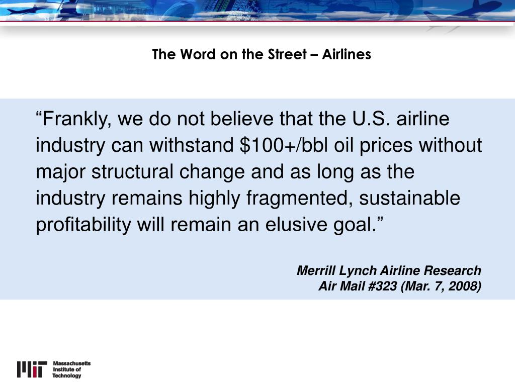 The Word on the Street – Airlines